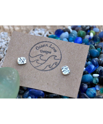 Ocean Love Designs Earrings Scale Stud Earrings