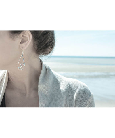Ocean Love Designs Earrings Tear Drop Wave Earrings