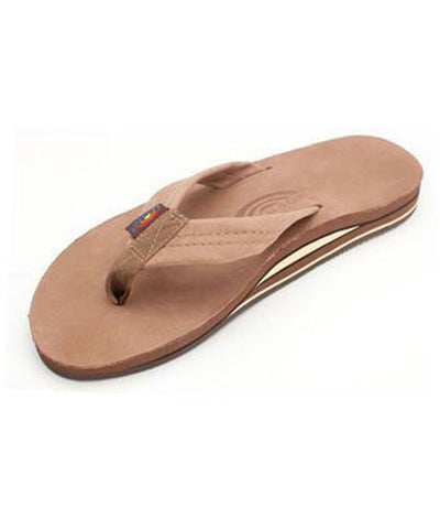 Rainbow Sandals Apparel Dark Brown / Medium Double Layer Premier Leather with Arch Support