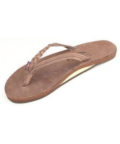 Rainbow Sandals Apparel eXpresso / Medium Flirty Braidy - Single Layer Premier Leather with Arch Support with a Braided Strap