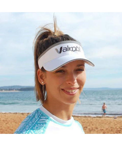 Vaikobi APPAREL White V PERFORMANCE VISOR