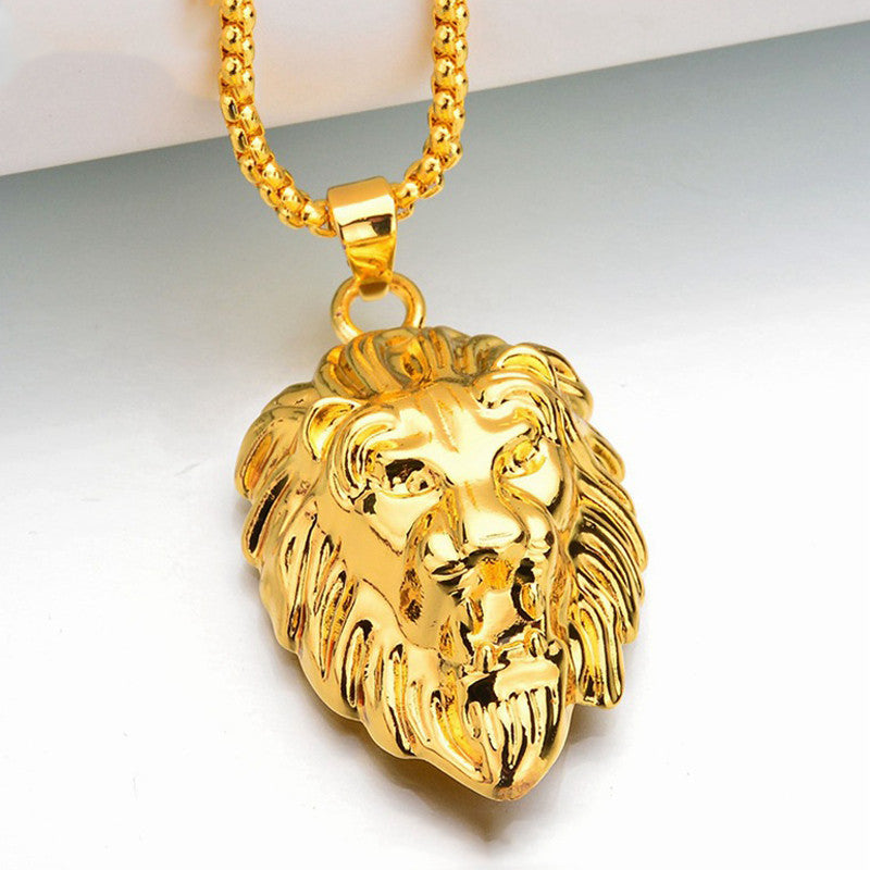 New 2018 18k gp lions head pendant w nice chain free chainz new 2018 18k gp lions head pendant w nice chain aloadofball Choice Image