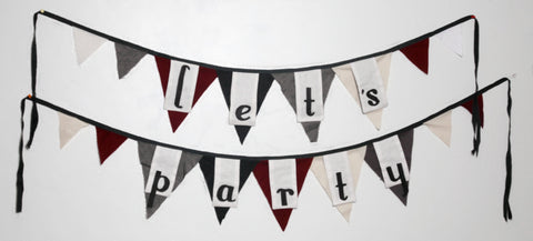 "Celebrate ~ ""Let's Party"" bunting"