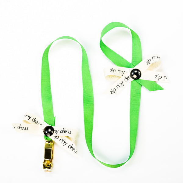 <strong>zip my dress<sup>®</sup></strong> Green ribbon