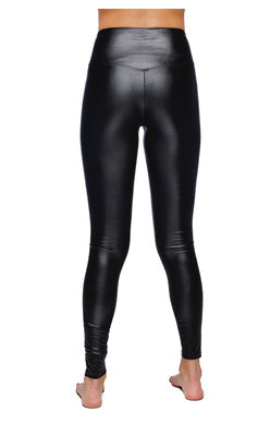 Jillian Black Pleather Legging - clothe+arrow