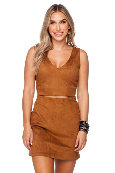 Stevie Mocha Dress - clothe+arrow