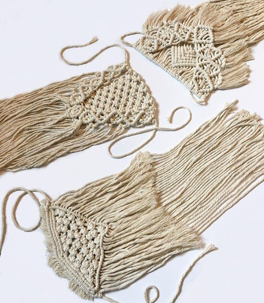 Macrame bouquet wrap - clothe+arrow