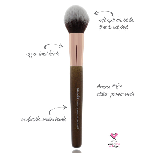 124 Amorus USA Premium Edition Powder Face Makeup Brush Amor Us makeup cosmetics brushes vegan cruelty free