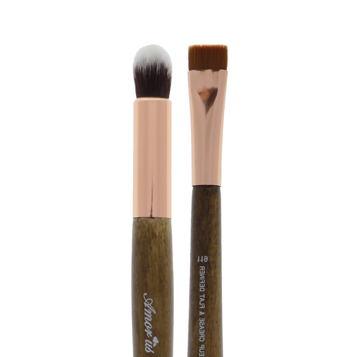 119 Amorus USA Premium Eyeshadow Crease and Flat Definer Duo Eye Makeup Brush Amor Us makeup cosmetics brushes vegan cruelty free