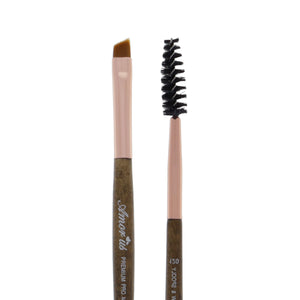 120 Amorus USA Premium Angled Eyebrow Brow and Eyeliner Duo Eye Makeup Brush Amor Us makeup cosmetics brushes vegan cruelty free