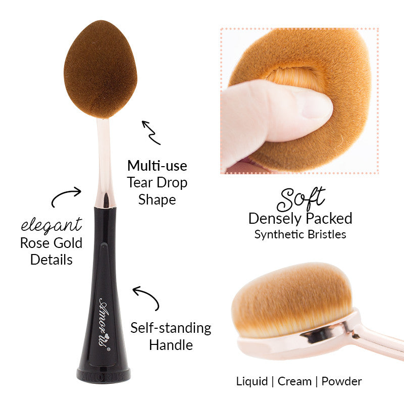 Amorus USA Amor Us #amorususa beauty cosmetics makeup face oval self-standing toothbrush foundation contour blush concealer makeup brush brushes vegan cruelty-free synthetic bristles professional high-quality