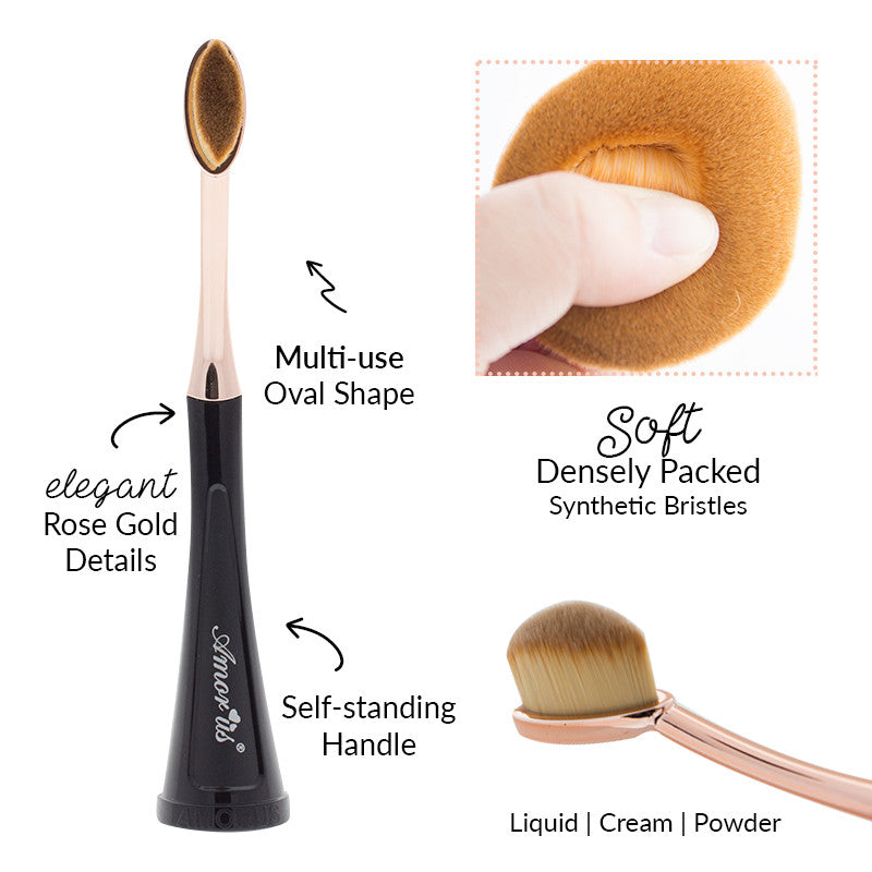 Amorus USA Amor Us #amorususa beauty cosmetics makeup face eye oval self-standing toothbrush concealer eyeshadow contour concealer makeup brush brushes vegan cruelty-free synthetic bristles professional high-quality