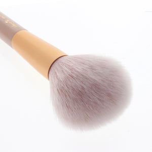 Amorus USA Gold Crush Tapered Powder Brush #303 Amor us tapered powder mini brush vegan cruelty free synthetic makeup brush
