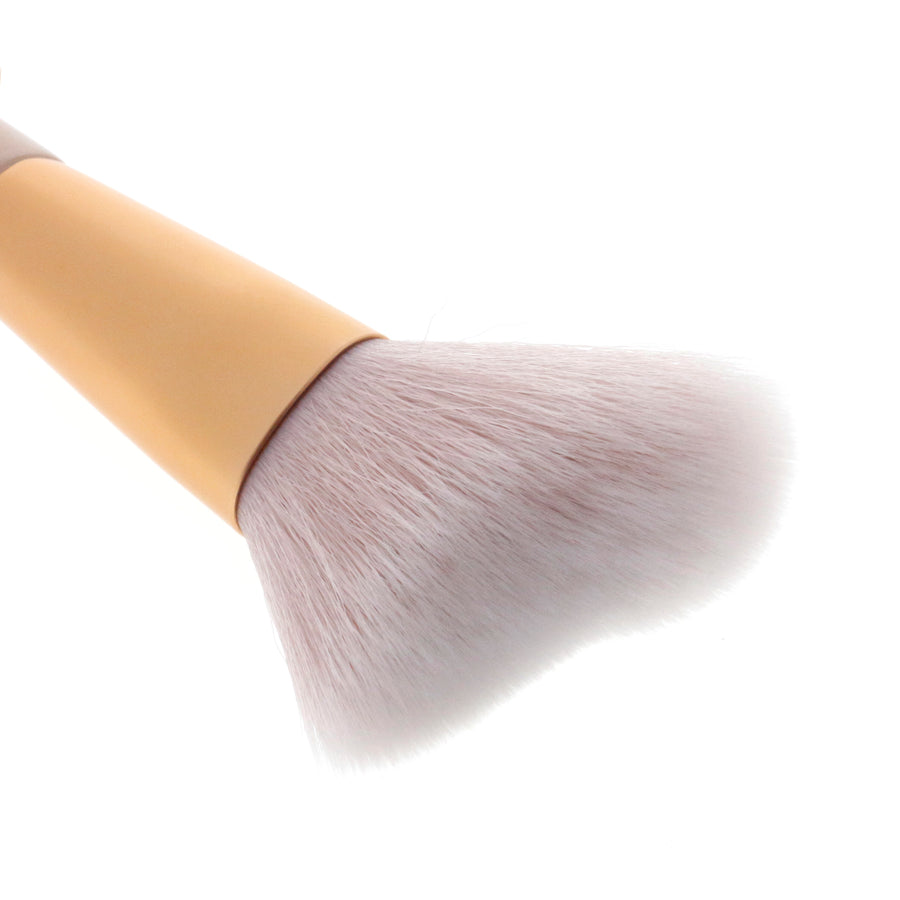 Amorus USA Gold Crush Cheek Brush #304 Amor us cheek mini brush vegan cruelty free synthetic makeup brush