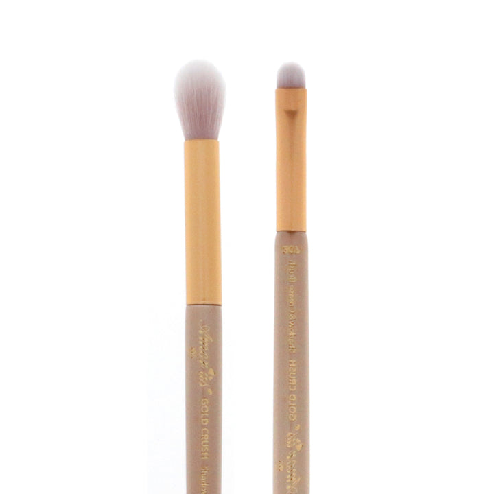Amorus USA Gold Crush Shadow & Crease Brush #307 Amor us shadow and crease mini brush vegan cruelty free synthetic makeup brush