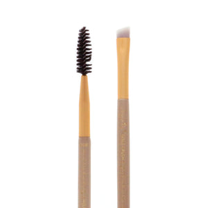 Amorus USA Gold Crush Angled Brow Brush & Spoolie #307 Amor us angled brow brush and spoolie mini brush vegan cruelty free synthetic makeup brush