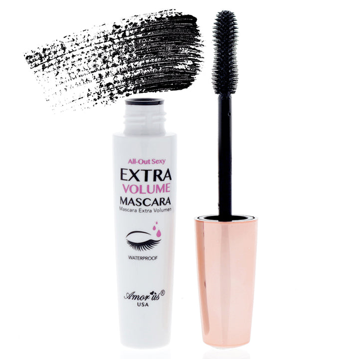 Amorus USA Amor Us #amorususa beauty cosmetics makeup cruelty-free eye eyes All-Out Sexy Mascara intense black waterproof volumizing lenthening curling lashes eyelashes rimmel hourglass-shaped brush
