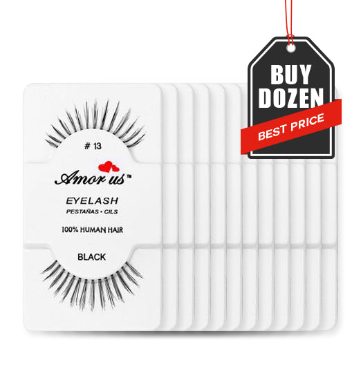 fake faux false eye lashes lash extensions eyelashes ardell kiss strip strips 12 pairs set dozen multipack pack twelve bulk case amorus usa amor us beauty makeup cosmetics drugstore cheap affordable eye eyes best value demi wispie wispies wsp long thick full criss cross natural black human hair handmade comfortable reusable