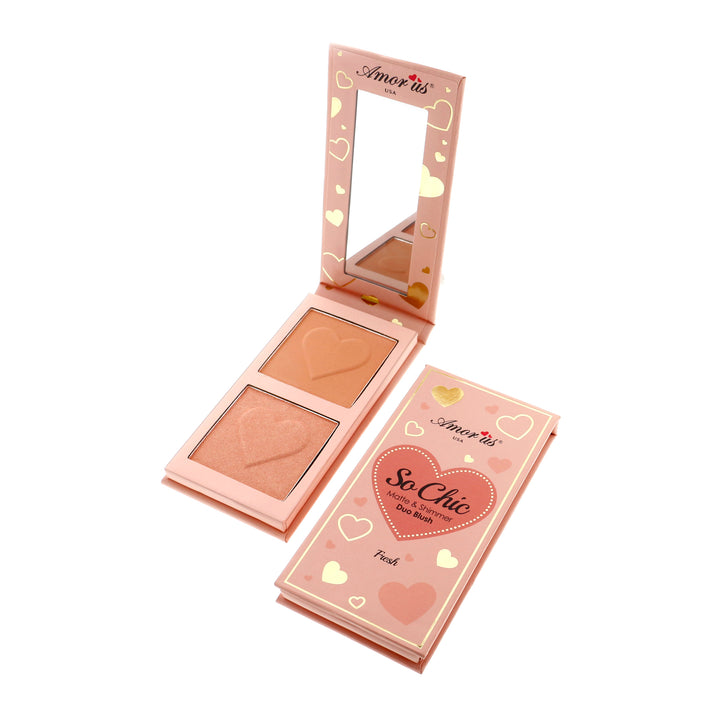 Amorus Fresh So Chic Blush Palette Makeup Cosmetics Highlighting Blush