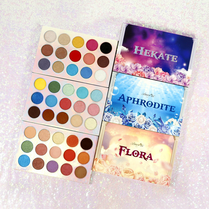 Amorus USA Aphrodite Hekate Flora Pressed Pigment Palette Amor us makeup cosmetics eye palette cream eyeshadow
