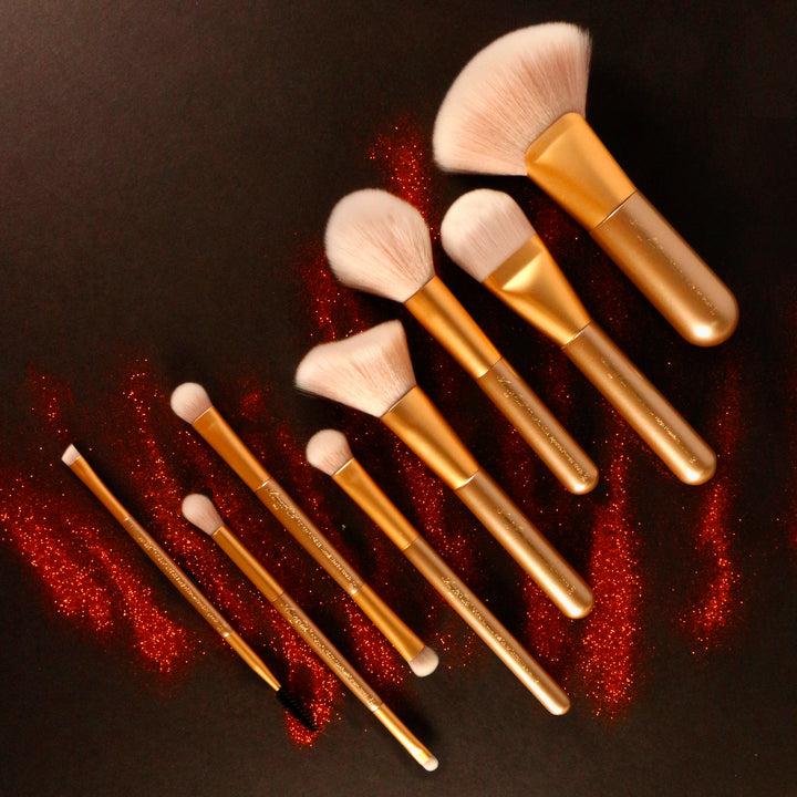 Amorus USA Gold Crush Mini Brush Amor us large foundation mini brush vegan cruelty free synthetic makeup brush