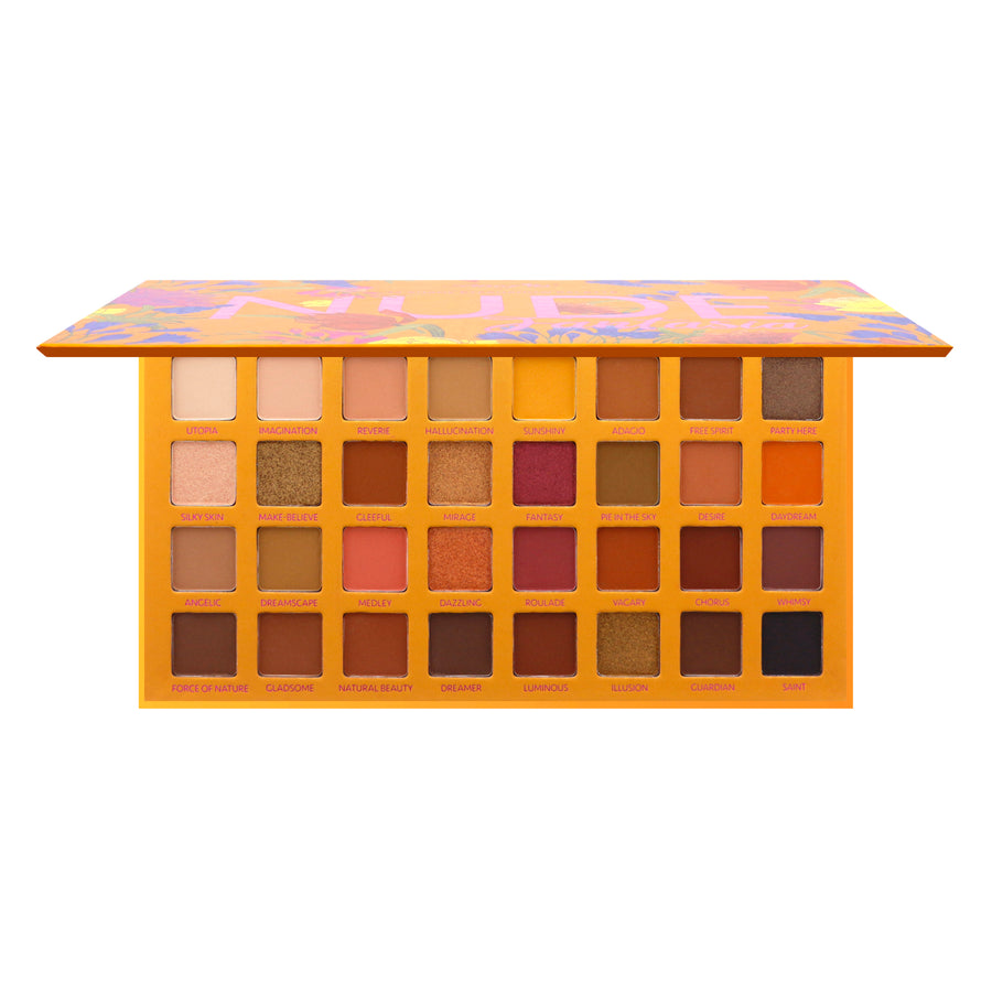 Amorus USA Amor Us #amorususa beauty cosmetics makeup cruelty-free eye eyes 32 pan natural nude eyeshadow palette nude fantasia matte micro shimmer