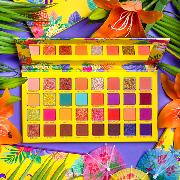 Amorus USA colorful refreshing fruits havanablast 32 Shade Pressed Pigment Palette Amor us Havana Blast