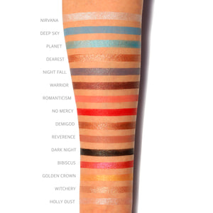 Amorus USA Hekate Pressed Pigment Palette Amor us makeup cosmetics eye palette cream eyeshadow swatches