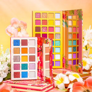 Amorus USA Tropical Daydream Summer Look Sunshine Buildable Hibiscus Dream 32 Shade Shine Bright 15 shades Pressed Pigment Palette Amor us Hibiscus Dream Shine Bright Palette Set