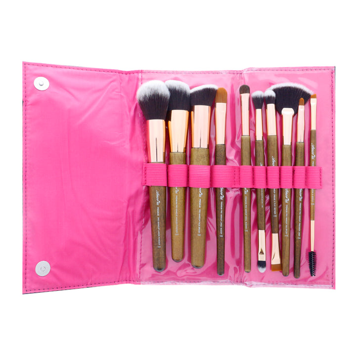 Amorus, amorous, Amor Us, Amor'Us, Amorususa, USA makeup, Set, premium brush set 10 makeup brush pouch face lip eye standing