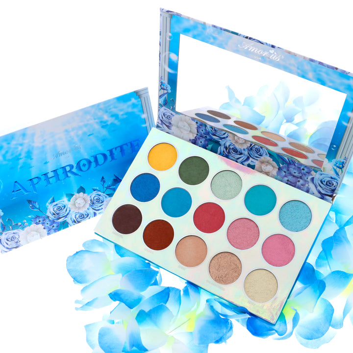 Amorus USA Aphrodite Pressed Pigment Palette Amor us makeup cosmetics eye palette cream eyeshadow