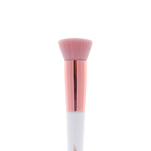 Amorus USA Luxe Basics Flat Kabuki Foundation Brush #202 Amor us flat buffer vegan cruelty free synthetic makeup brush brushes