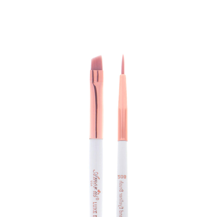 Amorus USA Luxe Basics Eyebrow and Eyeliner Brush #208 Amor us eyeshadow double-ended multi-purpose eye vegan cruelty free synthetic makeup brush