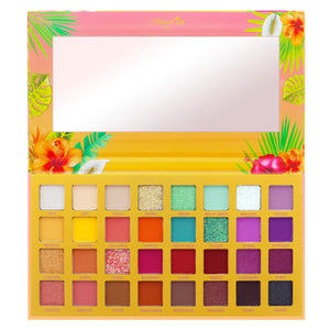 Amorus USA Summer Look Sunshine Buildable Hibiscus Dream 32 Shade Pressed Pigment Palette Amor us Hibiscus Dream