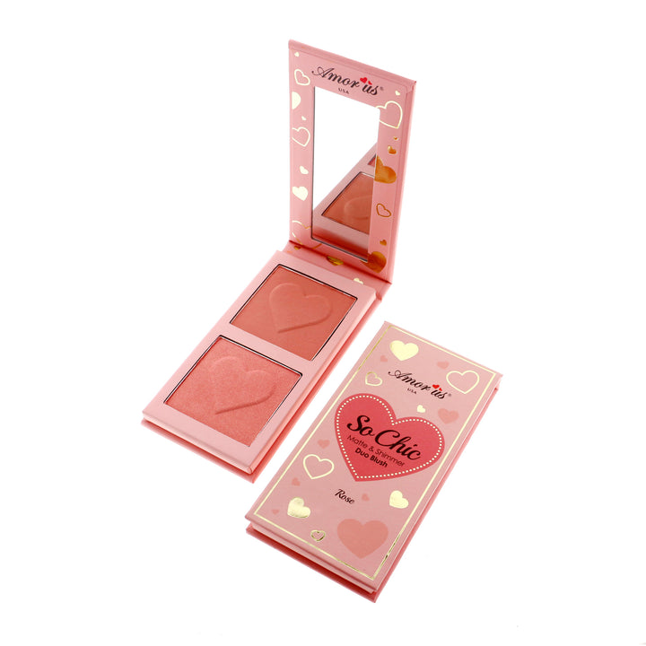 Amorus Rose So Chic Blush Palette Makeup Cosmetics Highlighting Blush