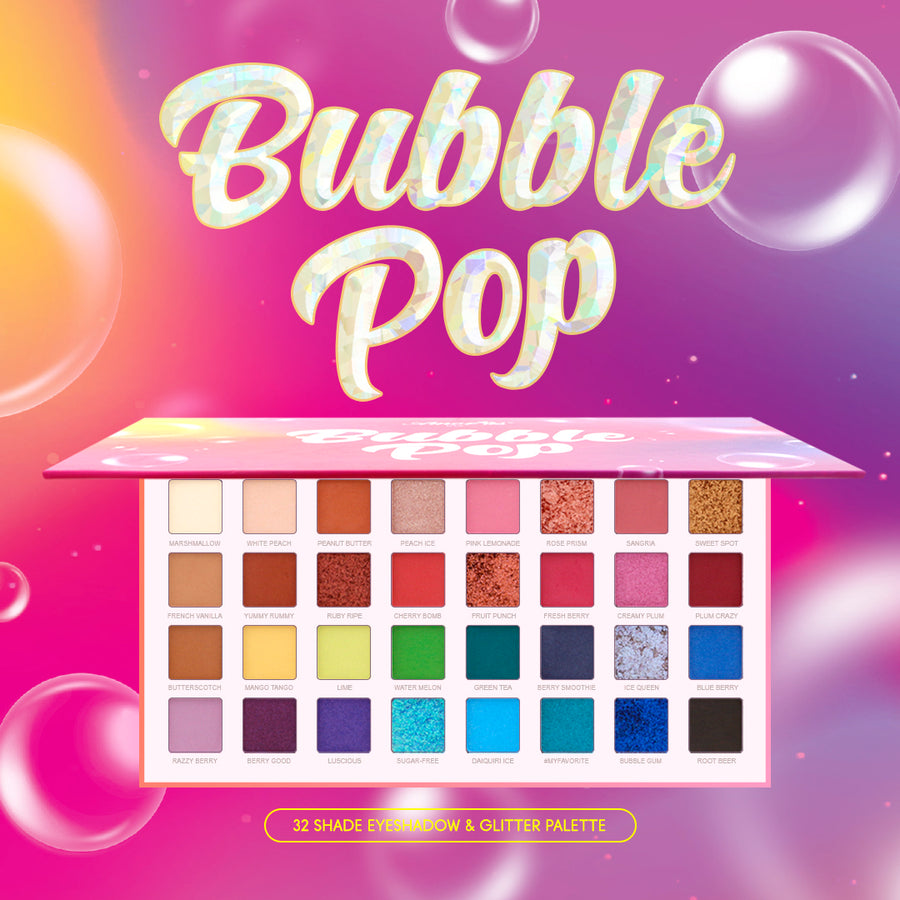 Amorus USA Bubble Pop 32 pan color Eyeshadow palette eye makeup amor us