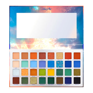 Amorus USA frozen icy snowqueen 32 Shade Pressed Pigment Palette Amor us snow queen