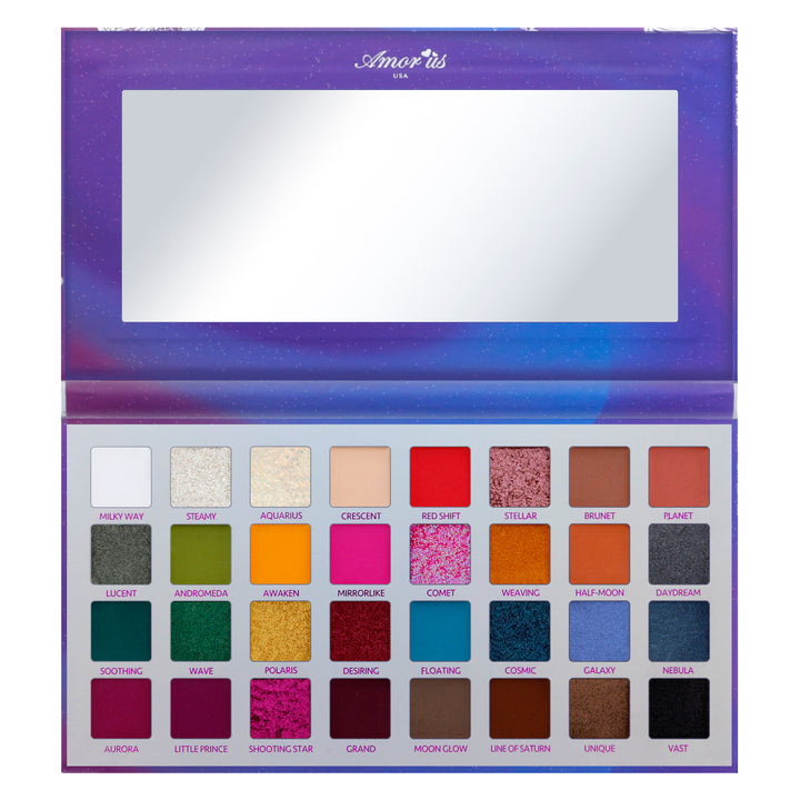 Amorus USA colorful dramatic Cosmic Dream 32 Shade Pressed Pigment Palette Amor us Cosmic Dream