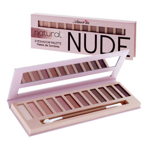 Amorus USA Amor Us #amorususa beauty cosmetics makeup cruelty-free eye eyes 12 pan natural nude eyeshadow palette naked matte shimmer