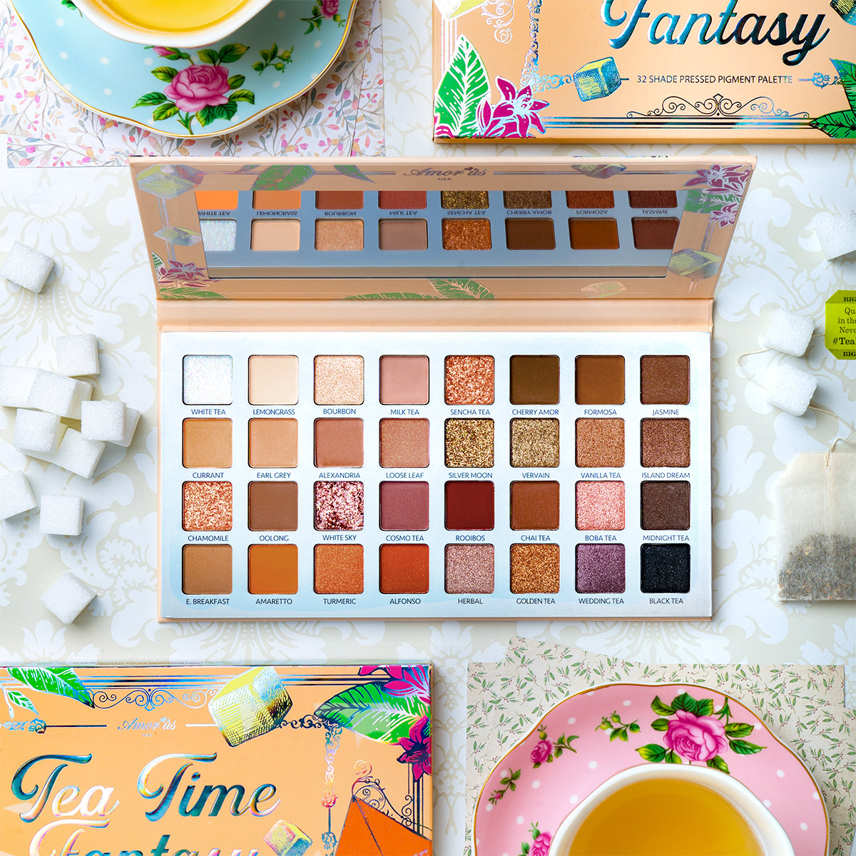 Amorus USA Everyday Natural Looks Neutral Smooth Creamy Blendable Ultra-Pigmented Effortless Teatime Fantasy 32 Shade Amor us