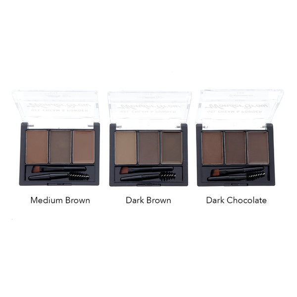 Amorus USA Amor Us #amorususa beauty cosmetics makeup cruelty-free eye eyes eyebrows brows Brow Cream Gel Pomage duo double powder kit set long-lasting waterproof angled brow brush included