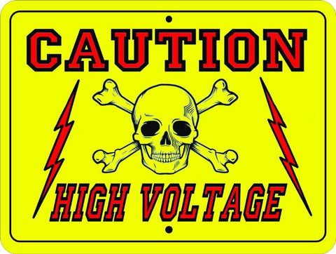 electric fence charger high voltage sign
