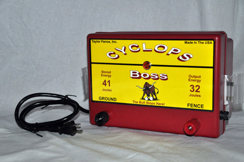 Cyclops Boss electric fence charger 12 Joule 1000 acre energizer
