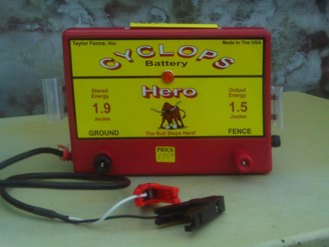 cyclops hero battery powered electric fence charger