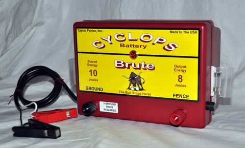 Brute Solar fence charger from Cyclops electric fencing