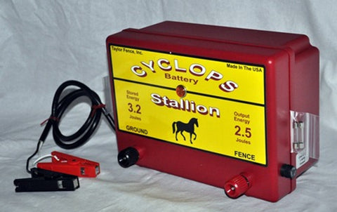 Cyclops Battery powered electric fence charger energizer