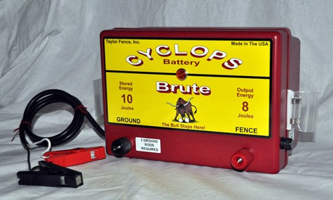 Cyclops BRUTE Battery Powered Fence Charger.