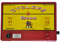 The BOSS electric fence charger from cyclops energizers