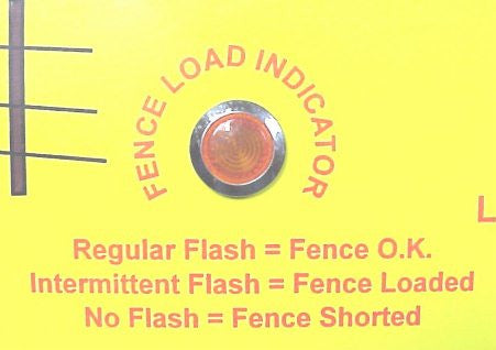 electric fence light indicator for fence load
