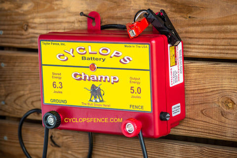 Cyclops fence charger for sale